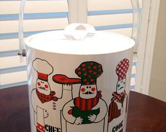 Culver 70s looking Mid century modern atomic age ice bucket vinyl