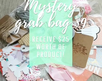 MYSTERY GRAB BAG, Surprise Box, Party Supplies, Paper Ephemera, Mystery Grab Bag, Paper Goods, Craft Supplies