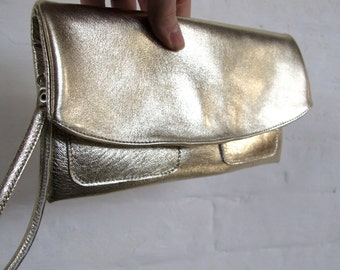 The Clutch Purse - Gold leather
