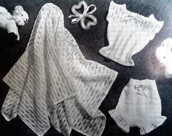 Vintage 1950s Knitting Crochet Sewing Magazine - Stitchcraft May 1955 UK - 50s knitting patterns - women's sweaters baby clothes shawl