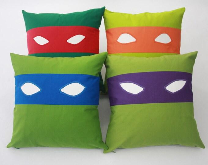 Teenage Mutant Ninja Turtles Pillow-Michelangelo-Teenage Mutant Ninja Turtles nursery pillow