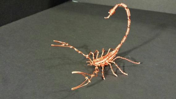 handmade wire scorpion