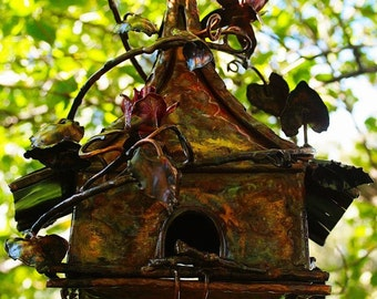 Copper Fairy Bird House