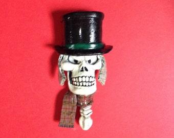 Scrooge Skull Christmas Magnet/Figure