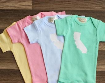 Baby State Onesie - California Baby Shirt - Home State Apparel - Baby State Shirt - State Baby Shirt - Born In Baby Shirt - Born Shirt