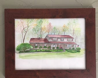 Custom House Painting Home Portrait