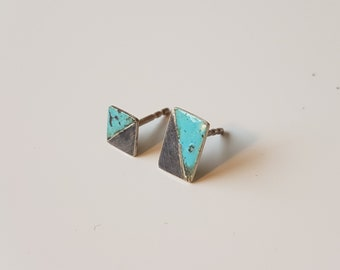 Beautiful handmade enamel earrings made of silver!
