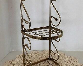 Brass Shelf, Vintage Brass, Brass Decor, Brass Wall Shelf, Brass Cottage, Brass Farmhouse Decor, Brass Wall Decor, Decorative Wire Shelf