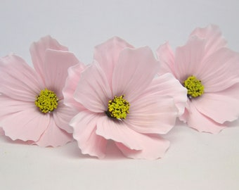 Cosmos sugar flowers, set of 3, sugarpaste, handmade, cake topper, wedding cake, edible, wired,