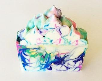 Soap Bar Favors - Soap Favors Birthday - Large Soap Bar - Bar Soap Shower Favors - Mom Gift from Daughter - Artisan Soap - Rainbow Sherbet