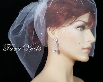 Birdcage Blusher,Birdcage veil,Birdcage Wedding veil, Bridal Veil,Bridal Birdcage Veil,Top comb birdcage Veil | birdcage bridal veil