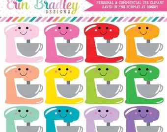 80% OFF SALE Kawaii Stand Mixer Clipart Baking Clip Art Graphics Kitchen Clip Art Cooking Clipart Commercial Use OK