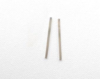 sterling silver bar drop earrings