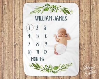 Baby Boy Milestone Blanket, Gift For Baby Boy, Milestone Blanket Boy, Baby boy Blanket, Monthly Milestone Blanket, Boys Blanket, Baby Boy