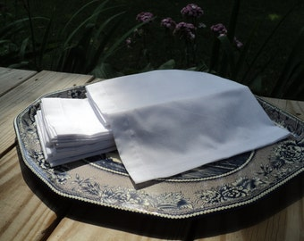Men's or Ladies' Timeless soft cotton Handkerchief sets of 4, simple, practical,and beautiful-MADE-TO-ORDER