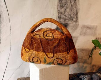 Little Felted Handbag, Ochre