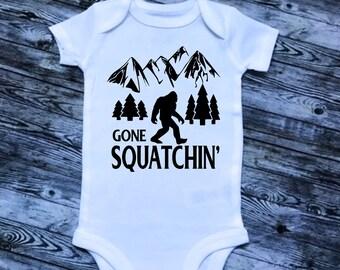 Gone Squatchin, Sasquatch Infant, Toddler gift, newborn Unique Gift, one-piece, bodysuit, snap-tee, creeper, tshirt, Dream Catcher bodysuit