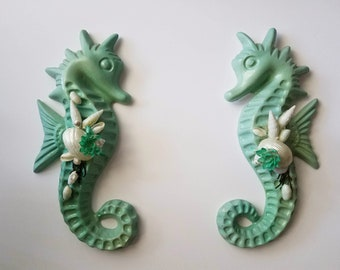 Green Seahorses Set of Two
