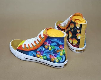 Handpainted Airwalk Tennis Shoes - Sz. 2