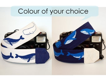 Photographer gift, DSLR camera strap, gift for him, hampback whale, nikon camera strap, beach photographer