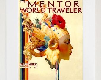 Vintage Travel Poster World Travel Wall Art Print (ZT640)