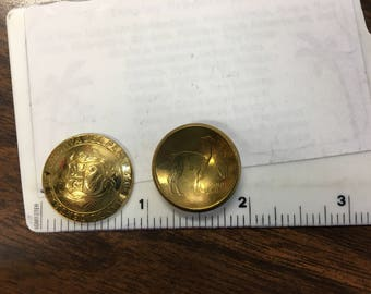 Raw (50) Solid Brass DOMED Peru Coin