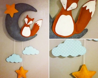 Mobile wall Fox nursery baby decor