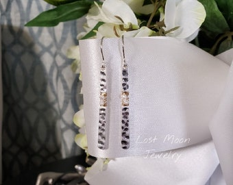 Hammered metal and pearl wire wrapped drop earrings