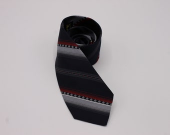 60s Navy with Red and Gray Stripe Necktie from House of Arden