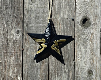 Upcycled Guinness Beer Can Star Ornament
