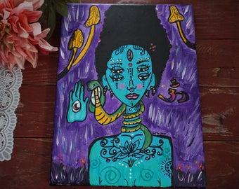 Acrylic On Canvas. Universal Love. 9x12