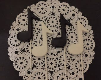 MUSIC NOTE Chocolate Lollipop (12 qty) Music/Choir/Band/Music Party/Musical Celebration/Jazz/Music Note Favor/Party Favor