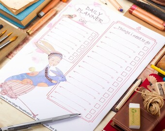 Daily planner binder, To do list, binder planner, Printable to do pages, daily Printable,Daily schedule,Binder printable,Daily planner pages