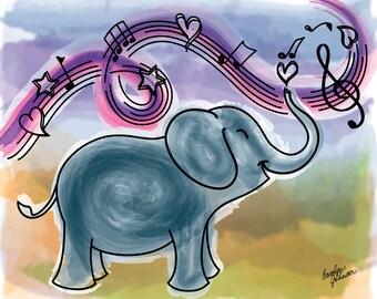 Joyful Noise - Watercolor Giclée Fine Art Print