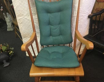 Solid Maple Spindle Rocker with Cushions