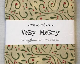 Moda Very Merry Charm Pack by Sandy Gervais
