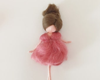 Filzfee-needle felted wool fairy Waldorf inspired mobile