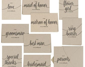 Wedding Party Thank You Set - Kraft- Set of 30 Cards