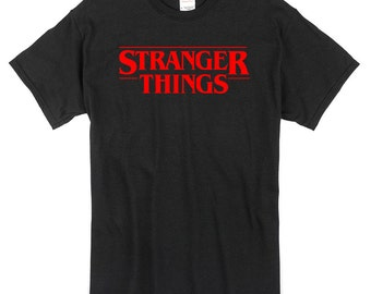 Stranger Things T-Shirt black 100% cotton