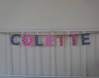 name 7 letters Colette banner Garland