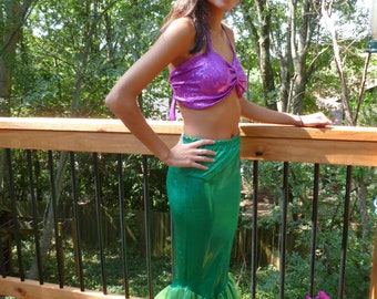 Mermaid Costume; Mermaid tail skirt