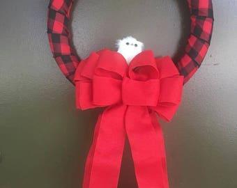 Christmas Owl Wreath