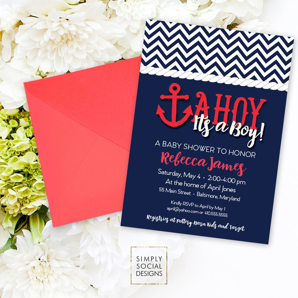 Fine Baby Shower Invitation Ideas For Boy Gift - Invitations and ...