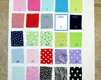 Fabric Chart for Choosing fabric for covered buttons.Chart not for sale..