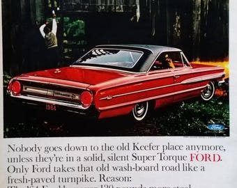 Ford Galaxie 500 1964 Red Super Torque Hot Rod 60s Fords Clasics Detroit Designs Sedan Story 13 x 11 Ready to Frame