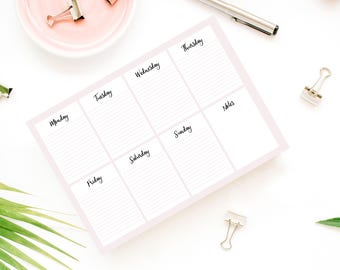 digital weekly hipster peach planner printable, A4 peach planner printable, peach planner organizer, undated weekly planner