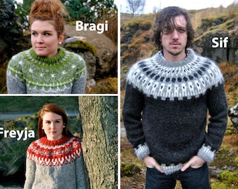 Icelandic Sweater - Handmade with 100% Pure Icelandic Wool