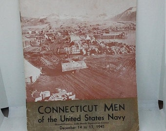 Spring Sale Vintage WW2 Connecticut Men of the United States Book