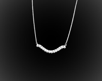 Surfin necklace ' USA silver embroidery