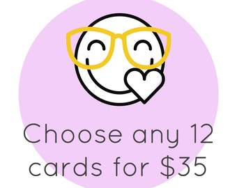 12 Pack of Cards - Choose Any 12